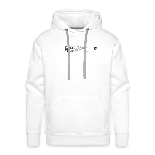 slogan png - Mannen Premium hoodie