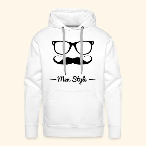 Men Style - Felpa con cappuccio premium da uomo