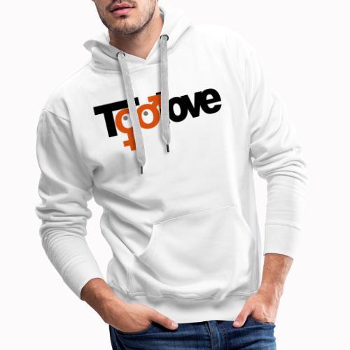 toolove mf - Felpa con cappuccio premium da uomo