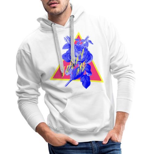 flores neon - Sudadera con capucha premium para hombre