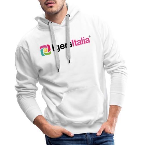 IgersItalia - Colori - Felpa con cappuccio premium da uomo