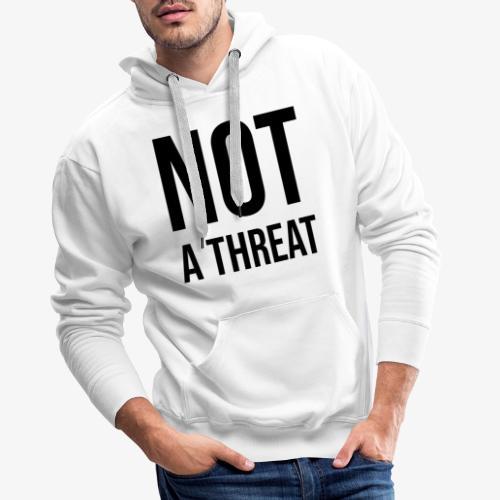 Black Lives Matter - Not a Threat - Men's Premium Hoodie