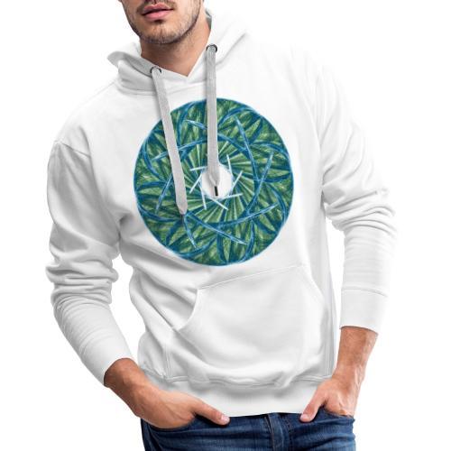 Rosette of thorns and blades of grass Mandala 12247oce - Men's Premium Hoodie