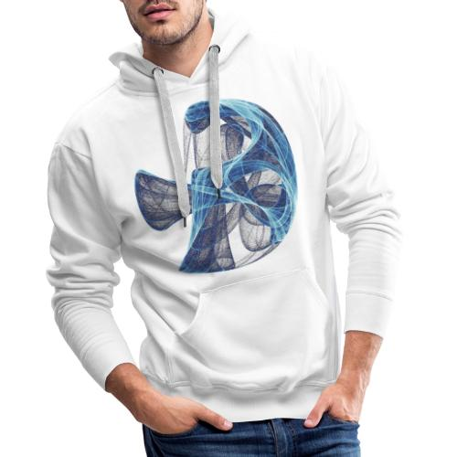Watercolor art graphic painting picture chaos 13834 ice - Men's Premium Hoodie