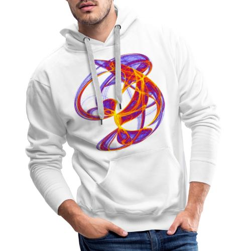 Play of colors of the Clifford-Bahnen watercolor 7839bry - Men's Premium Hoodie