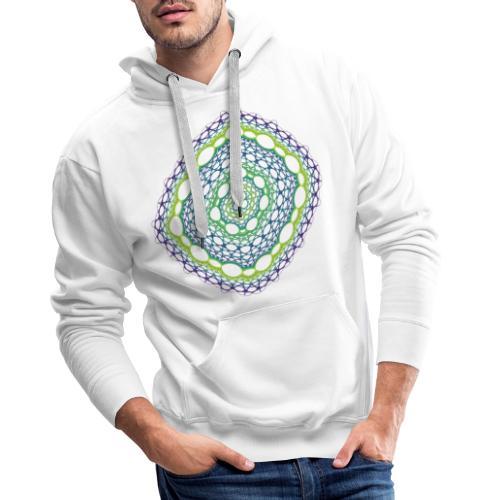 Emerald weave spun from the chaos 5320viridis - Men's Premium Hoodie