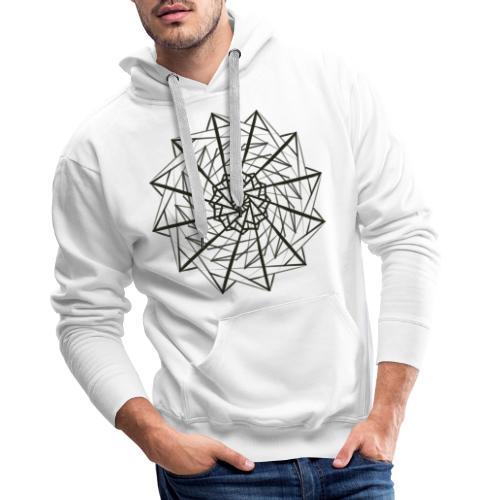 geometrico figo maglie chiare - Felpa con cappuccio premium da uomo