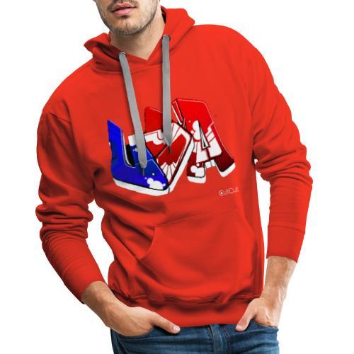 USA - Sweat-shirt à capuche Premium pour hommes