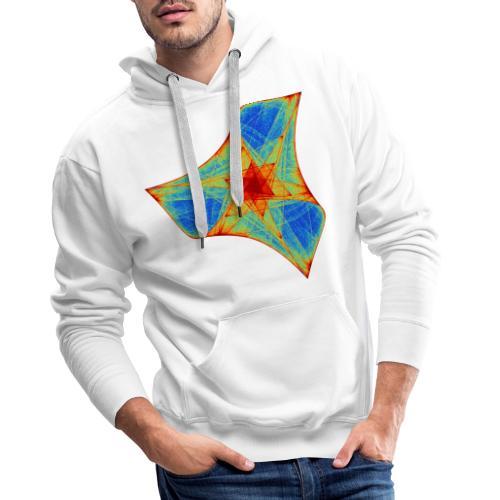 Colorful boomerang starfish sea creature 12117j - Men's Premium Hoodie