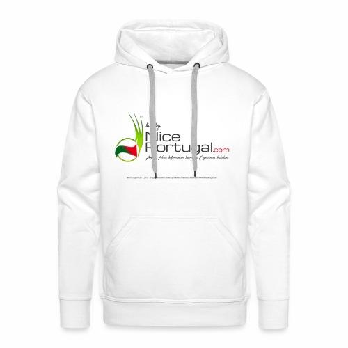NicePortugal.com Logo - Felpa con cappuccio premium da uomo