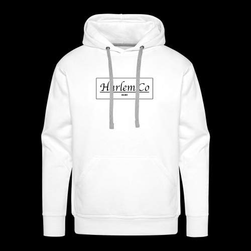 Harlem Co logo White and Black - Men's Premium Hoodie
