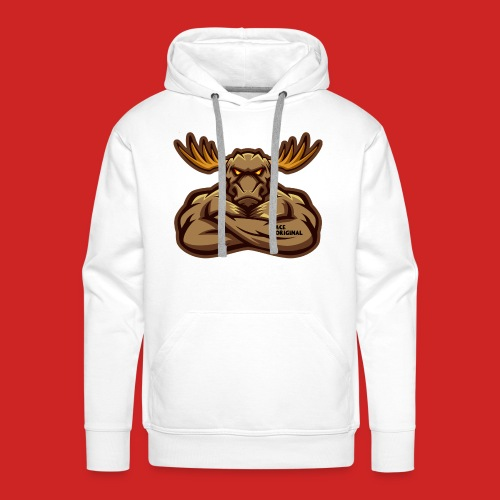 Ace Original Moose Mascot - Men's Premium Hoodie