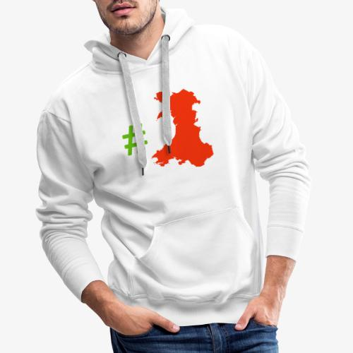 Hashtag Wales - Men's Premium Hoodie