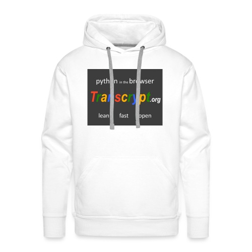 Transcrypt Logo - Mannen Premium hoodie