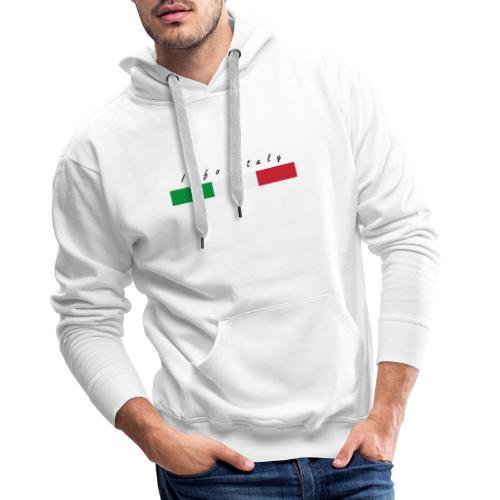 Info Italy Design - Felpa con cappuccio premium da uomo