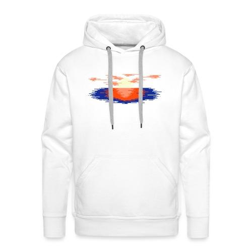 Sunset Landscape t-shirt - Felpa con cappuccio premium da uomo