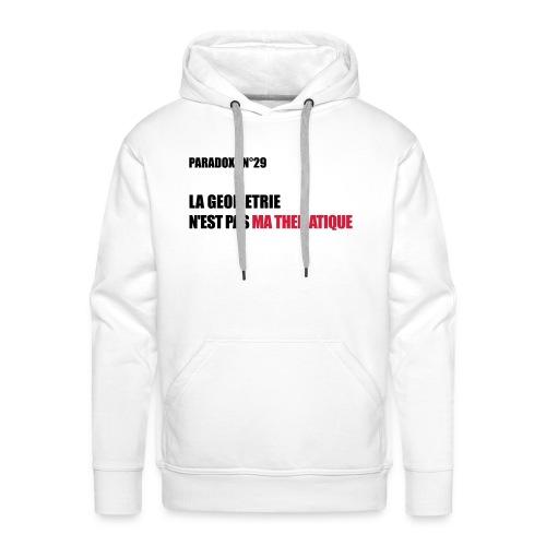 PARADOXE geometrie - Sweat-shirt à capuche Premium pour hommes