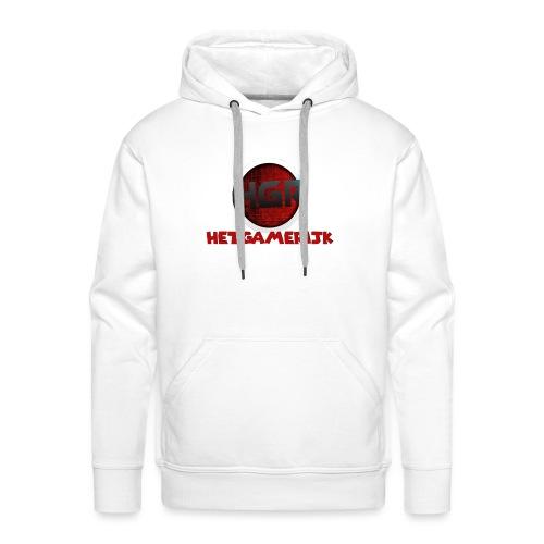 HetGameRijk logo + tekst - Mannen Premium hoodie