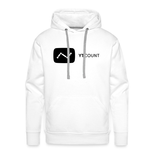 YTCount Logo White - Mannen Premium hoodie