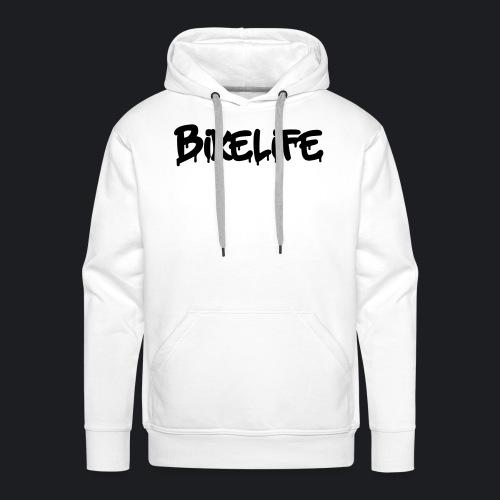 BIKELIFE WHITE - Männer Premium Hoodie