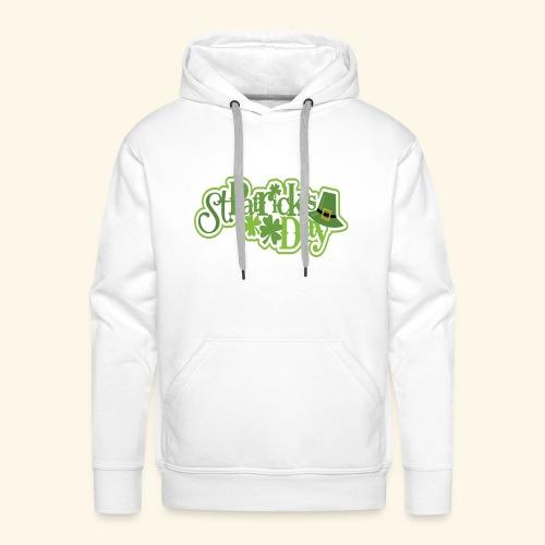 St Patrick`s Day Leprechaun Riding fun gift tshirt - Men's Premium Hoodie