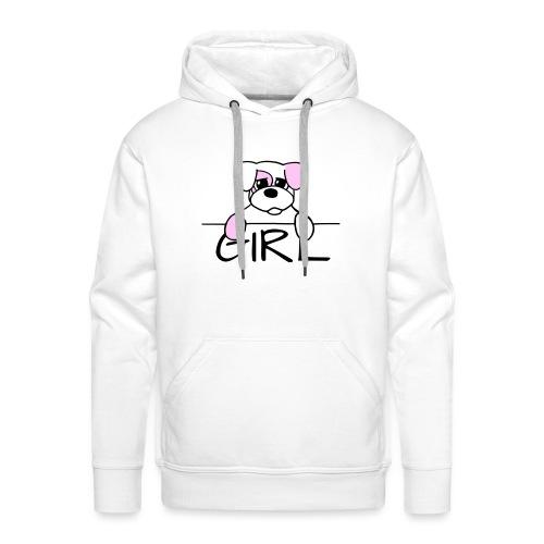 Hondje Girl - Mannen Premium hoodie