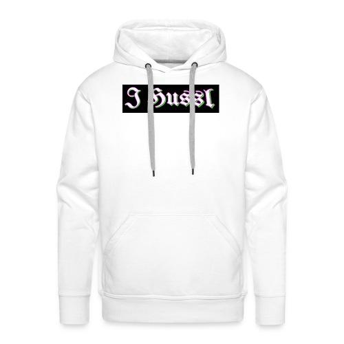 J Hussl T shirt logo design - Men's Premium Hoodie