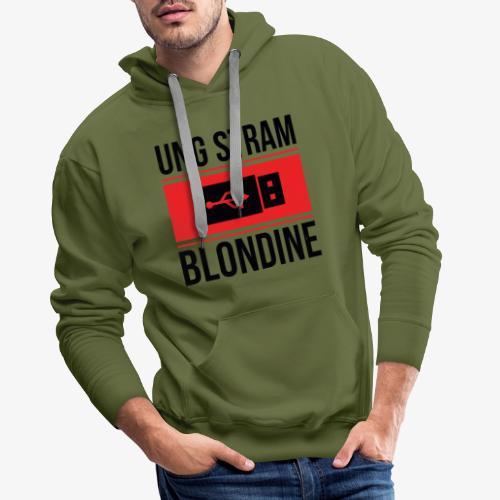 Ung Stram Blondine - Sort - Herre Premium hættetrøje