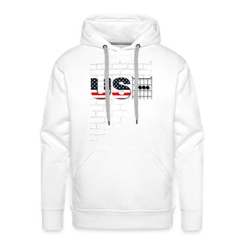 USA American Flag in Chords - Men's Premium Hoodie