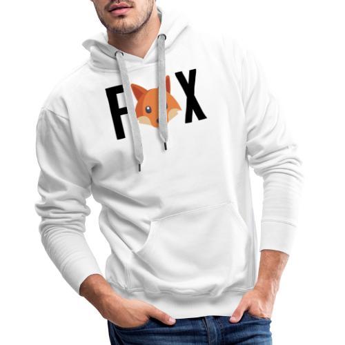 FoxFox | Logo - Felpa con cappuccio premium da uomo