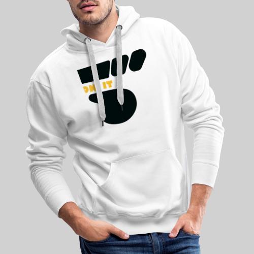 Logo 5 on It noir / jaune - Sweat-shirt à capuche Premium pour hommes