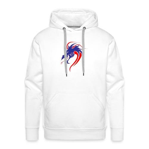 dragon en colère - Sweat-shirt à capuche Premium pour hommes