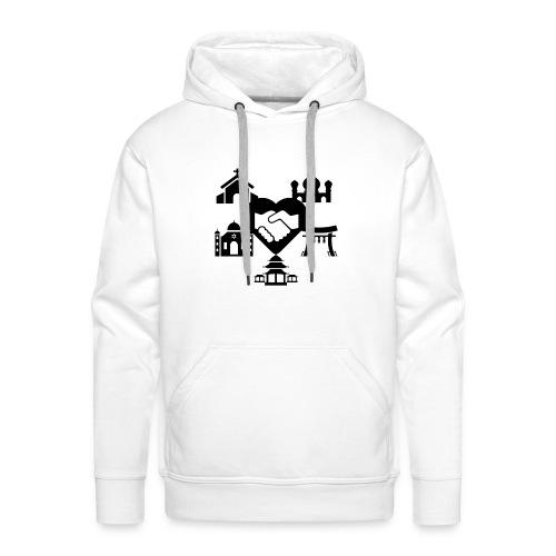 religion peace - Sweat-shirt à capuche Premium pour hommes