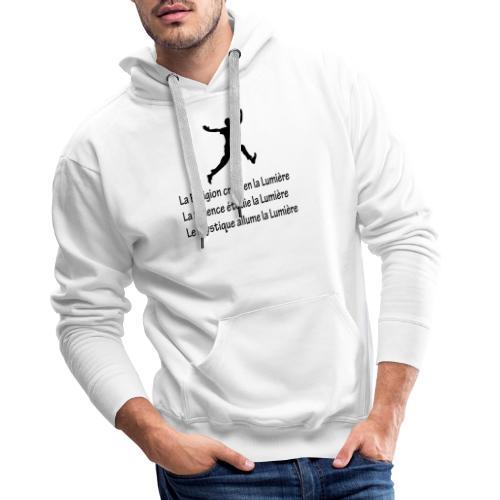 Lumière Religion Science Mystique - Sweat-shirt à capuche Premium pour hommes