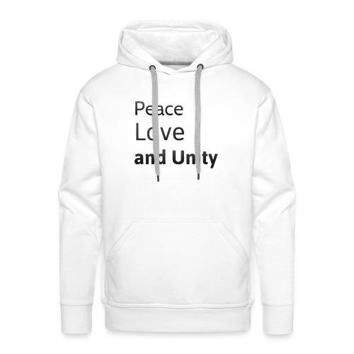 peace love and unity - Men's Premium Hoodie