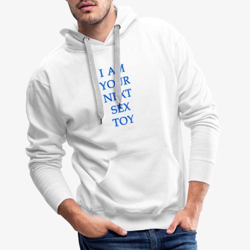 sex toy blue - Felpa con cappuccio premium da uomo
