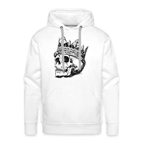 Cráneo del rey - Sudadera con capucha premium para hombre