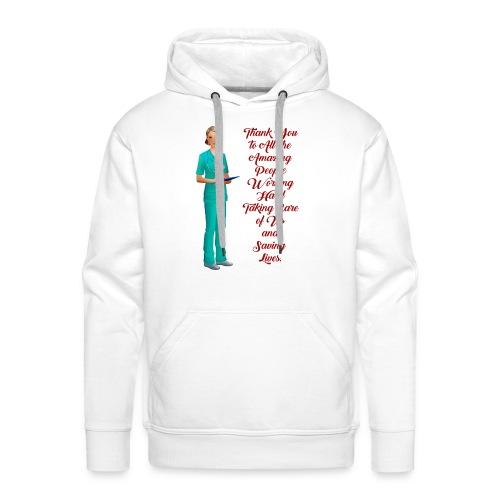 thank you medical, danke an die Medeziner - Männer Premium Hoodie