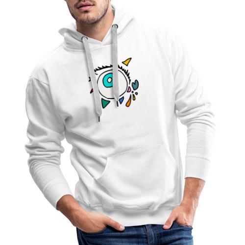 Oeil Punkodylate - Sweat-shirt à capuche Premium pour hommes