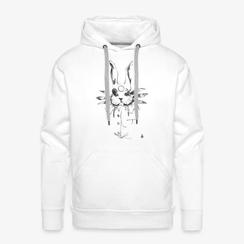 crazy rabbit - Felpa con cappuccio premium da uomo
