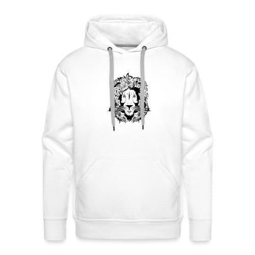 lion black on white - Men's Premium Hoodie