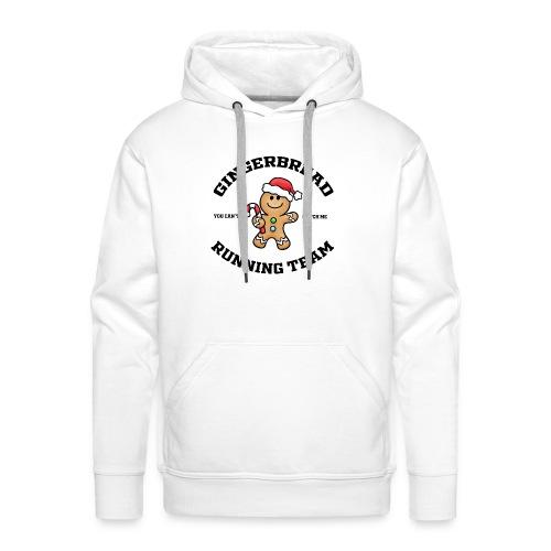 gingerbread running team - Men's Premium Hoodie