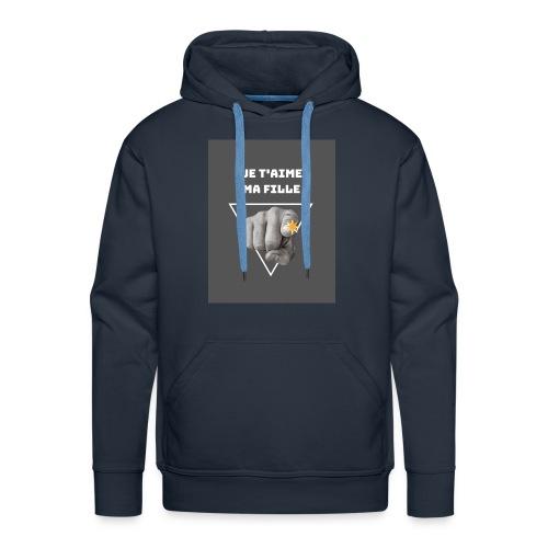 Je t'aime ma fille - Sweat-shirt à capuche Premium pour hommes