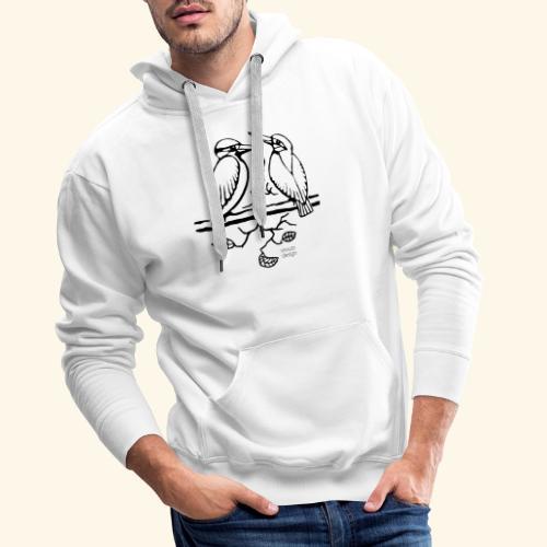 Eisvogel Liebe - Männer Premium Hoodie