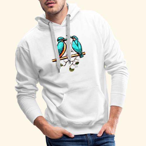 Eisvogel Paar farbe - Männer Premium Hoodie