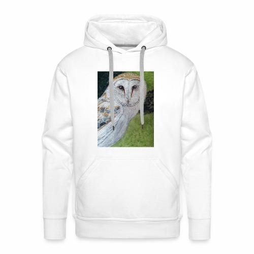 Curious Scottish owl - Men's Premium Hoodie