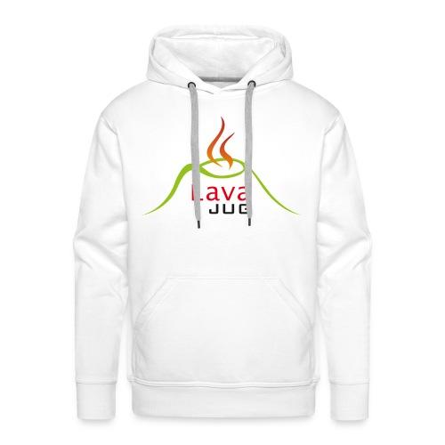 logo lavajug black - Sweat-shirt à capuche Premium pour hommes