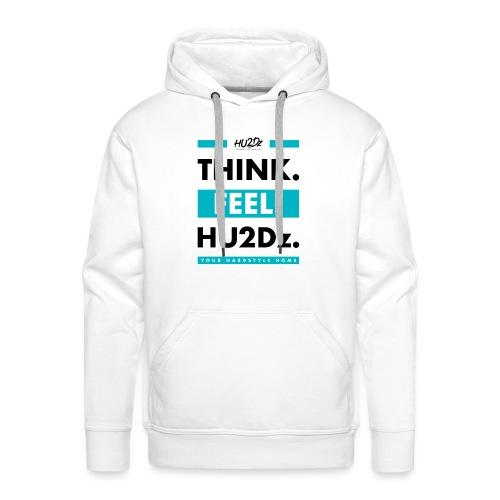 THINK FEEL HU2Dz Black White Shirt - Mannen Premium hoodie