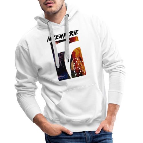 intemperie logo tres estragos - Sudadera con capucha premium para hombre