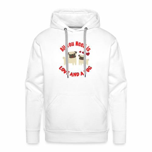Typography Quotes Pug Lovers T shirt - Men's Premium Hoodie